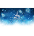 winter christmas and new year glowing with vector image
