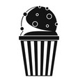 popcorn icon simple black style vector image