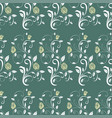 retro seamless pattern branches roses vector image