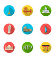 sights of the countries of the world famous vector image