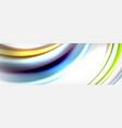 abstract wave lines liquid fluid rainbow style vector image vector image