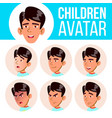 asian boy avatar set kid primary school vector image vector image