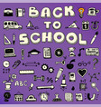 back to school concept banner trendy doodle vector image