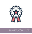 badge icon in trendy outline award symbol vector image vector image