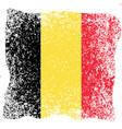 belgian national day flag of belgium grunge vector image vector image