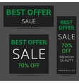 Best offer banners vector image vector image