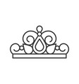 beuauty pageant or princess crown outline icon vector image vector image