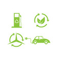 bio and ecology set icons vector image vector image