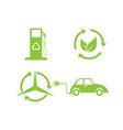 Bio and ecology set icons