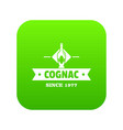 bottle cognac icon green vector image vector image