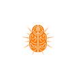 brain icon logo design vector image