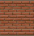 brick wall texture seamless vector image vector image