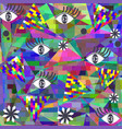 bright colorful geometric abstraction picture vector image