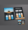 brochure template with a place for photos in the vector image vector image