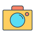 camera line icon simple minimal 96x96 pictogram vector image vector image
