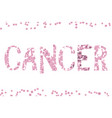 cancer word by cells vector image vector image