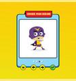 cartoon superhero game asset theme hero art vector image vector image