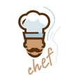 chef emblem vector image vector image