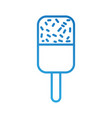 chocolate ice cream on a stick sweet vector image