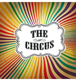 circus rays retro card vector image vector image