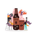 cold brew coffee concept for web banner vector image