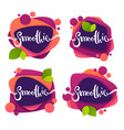 collection bright and shine stickers emblems vector image vector image