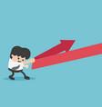 concept cartoon young businessman reflection arrow vector image vector image