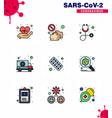 coronavirus awareness icon 9 filled line flat vector image vector image