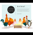 Cute animal family background with Chickens vector image
