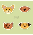 Cute dogs Face vector image vector image