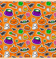 Cute seamless halloween background