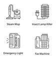 domestic appliance line icons pack vector image vector image