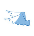 drawing wings feather bird angel icon vector image vector image
