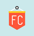 fan club flag flat icon soccer related vector image vector image