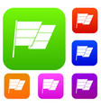 flag set collection vector image vector image