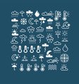 flat 8 bit meteorology icons collection of simple vector image vector image