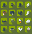 flat concept set modern design with shadow forest vector image vector image