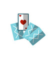 flat playing cards icon of vector image
