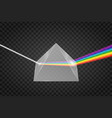 glass pyramid refraction light vector image