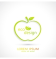 Green Apple Logo vector image