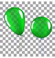green helium balloon isolated vector image