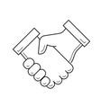 handshake line icon vector image