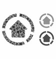 house diagram mosaic icon unequal items vector image vector image
