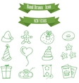 Icon of holiday new year element vector image vector image
