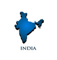 india country 3d map vector image vector image