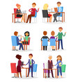 interview interviewed people on business vector image vector image