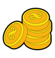 isolated money coins vector image vector image