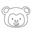Isolated monkey cartoon design vector image