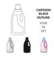 laundry detergent icon in cartoon style isolated vector image vector image