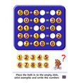 logic puzzle game for children and adults place vector image vector image